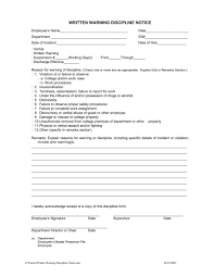 Employee Warning Notices 11 Employee Warning Letter Examples Pdf Google Docs Ms