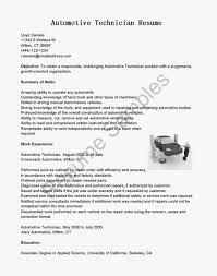 Automotive Technician Resume Examples Heavy Equipment Mechanic