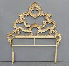 Ornate Bedroom Furniture Vintage French Provincial Ornate Rococo Baroque Gold Cast Iron