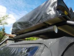 diy fishing pole storage on roof rack