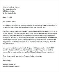 Recommendation Letter Template Medical Residency Copy Sample Medical