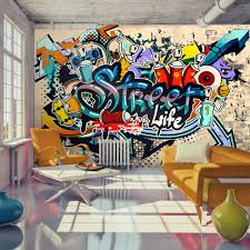 Photo Wallpaper Wall Murals Non Woven Graffiti Street Life Modern Design  Wall Decals Bedroom Decor Home Design Wall Art Decals 112