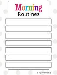 Free Morning Routine Chart Pictures Our Morning Routine Plus Free Morning Routine Chart For
