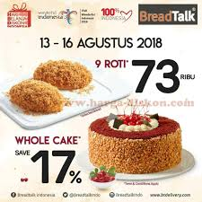 Promo Bread Talk Terbaru Spesial Kemerdekaan Periode 13 16 Agustus