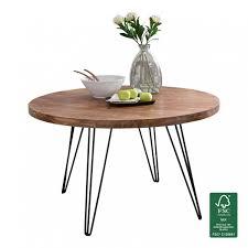 Design Esszimmertisch Bagli Rund ø 120 X 78 Cm Sheesham Massiv Holz