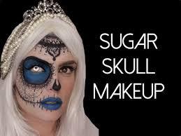 half face lace and pearls sugar skull