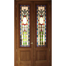stained glass doors custom designed