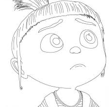 Small Picture Print Agnes Of Despicable Me Coloring Pages or Download Agnes Of