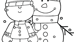 Snow Coloring Sheets Snow Coloring Pages Pictures Page Boy With