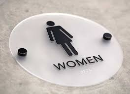 Restroom signs Red Round Restroom Signs With Black Stand Offs Office Sign Company Stylish Restroom Signs With Braille Cool Bathroom Signs Ada