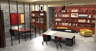Design Office for AJM Interior Design firm. Part of freshman studio class  utilizing both AutoCAD and SketchUp.