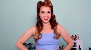 easy and pretty 50 s vine look tutorial hair and makeup diy by makeup tutorial at