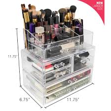 stackable 1 cube cosmetic organizer in acrylic
