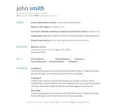 Resume Template Downloads