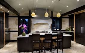 ideas for recessed lighting. Stunning Recessed Lighting For Glamorous Kitchen Ideas Using Unique Pendant And Elegant Island