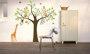 owl tree monkey giraffe removable wall art stickers kids nursery vinyl decal diy large tree wall stickers for kids room mural huge wall stickers in this