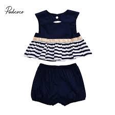 Pudcoco <b>Summer</b> Newborn New Style Fashion Baby <b>Girl</b> Navy Blue ...