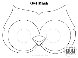 Let kids color them in first, then cut them out. Free Owl Mask Templates For Kids Simple Mom Project
