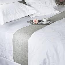 300tc wave pattern white duvet cover image 1