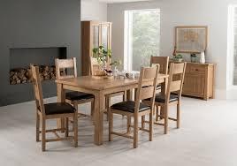 vida living breeze oak rectangular extending dining set with 6 chairs 180cm 240cm