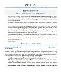 Electrical Design Sample Resume For Electrical Design Engineer