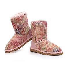Womens UGG Classic Sheepskin Short Boots 5825 Peony Online