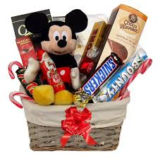 with mickey mouse gift basket