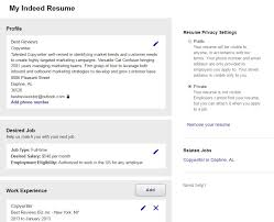 Indeed Sample Cover Letter Indeed Sample Resume Indeed Sample