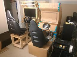 diy synced arcade racing cabinet al on ur