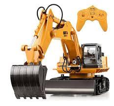 Huina 510 <b>RC</b> Excavator <b>Car</b> 2.4G <b>11CH</b> Metal <b>Remote Control</b> ...