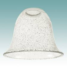 7810 clear seeded glass bell shade