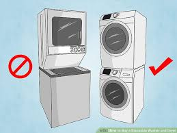 stackable washing machine. Image Titled Buy A Stackable Washer And Dryer Step 5 Washing Machine
