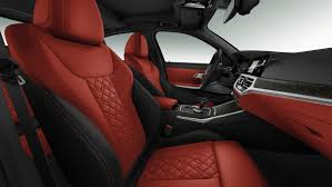 bmw individual full fine grain merino leather fiona red black