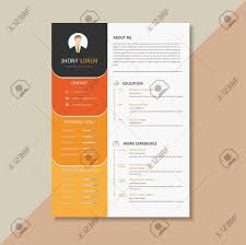 Artistic Resume Template Creative Resume Template Cv Orange And Yellow Combination