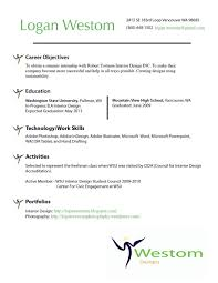 Interior Design Resumes Interior Design Resume Objective Examples