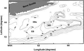 Bathymetric M Chart Of The Scotian Shelf Showing Emerald