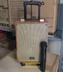 Loa kẹo kéo karaoke, loa karaoke di động, loa kéo mini thùng gỗ, tặng kèm 1  micro không dây hát cực hay giá rẻ