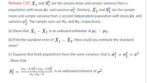 Solved: X_1 And S^2_1 Are The Sample Mean And Sample Varia ...