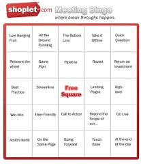 Office Bingo Break Throughs With Shoplet Bingo Shoplet Blog