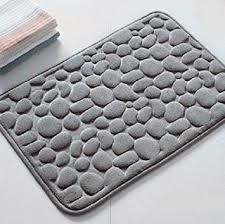 pebble bath rug awesome com 3d pebbles natural rubber mat for 1