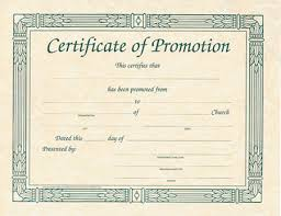 Promotion Certificate Template Printable Certificates Of Promotion Download Them Or Print