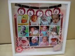 fluffyheartz photo frame for baby baby s first 12 months frame