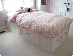 white twin storage bed. Plain Storage Charming White Twin Bed With Storage Drawers E
