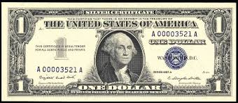 Antique Money Value Of One Dollar 1957 Silver Certificates