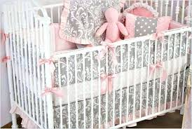 pink and gray nursery bedding gray baby bedding sets hot pink and grey baby crib bedding