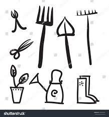 Garden Tools Set Vector Icons Illustration Stock Vector 409200106