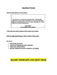 Example Essay Prompts Staar Expository Essay Prompt Writing Template With Example Prompt