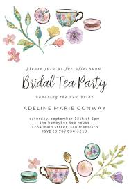 Tea Party Invitations Free Template Tea Party Bridal Shower Invitation Template Free