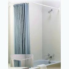 corner tub shower rod free standing tub shower curtain rod inspirational design corner shower curtain rod