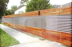 image of corrugated metal fence pros and cons